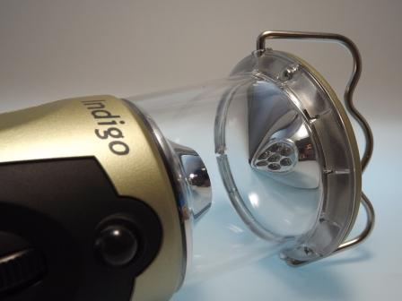 Handkurbellampe mmit LED und Reflektor