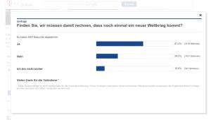 Telekom: Umfrage Angst vor Weltkrieg