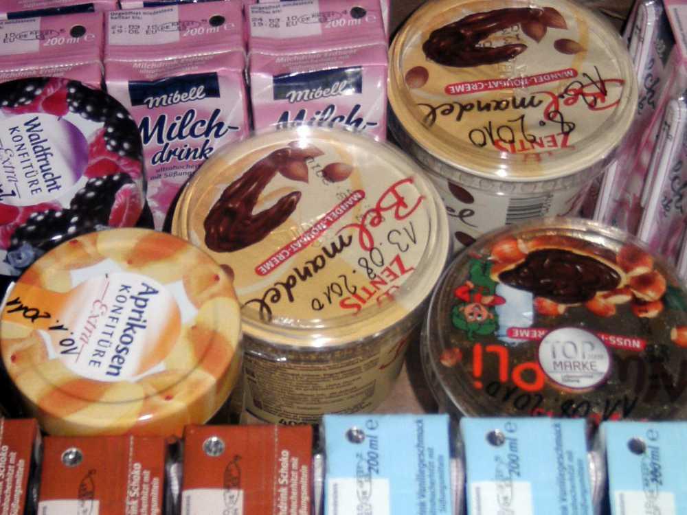 Nuss-Nougat-Creme, Marmelade und weitere Lebensmittel, die sich als Brotaufstrich eignen
