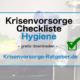 Krisenvorsorge Checkliste Hygiene gratis downloaden