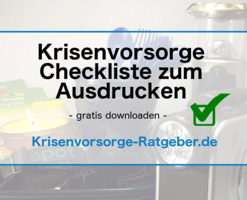 Krisenvorsorge Checkliste zum Download gratis downloaden