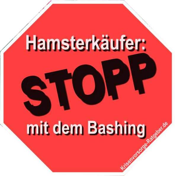 Button: Hamsterkäufer Stopp mit Bashing