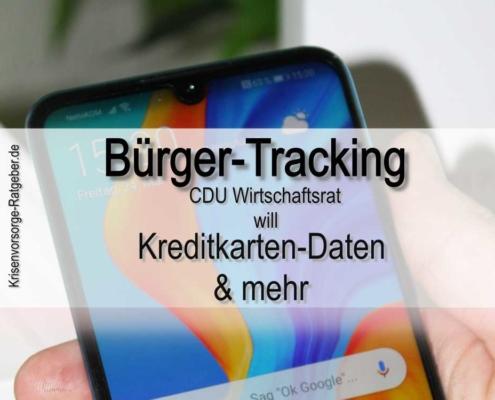 Bürger-Tracking: Nach Handy-Daten jetzt auch Kreditkarten-Daten?