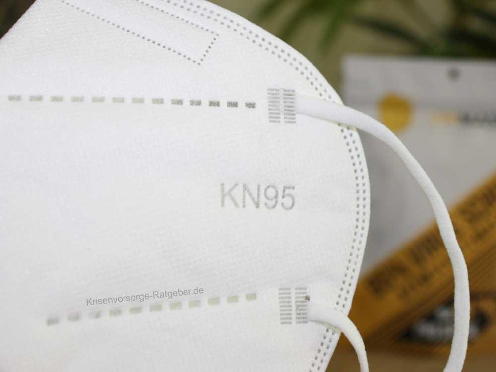 KN95 Mundschutzmaske mit Ohrschlaufe