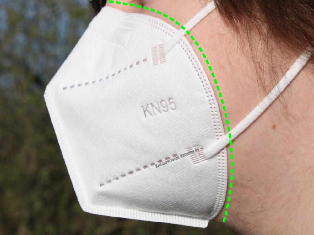 Passform VirMasko KN95 Mundschutz - ohne Lücken