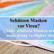 Schützen Masken vor Viren?