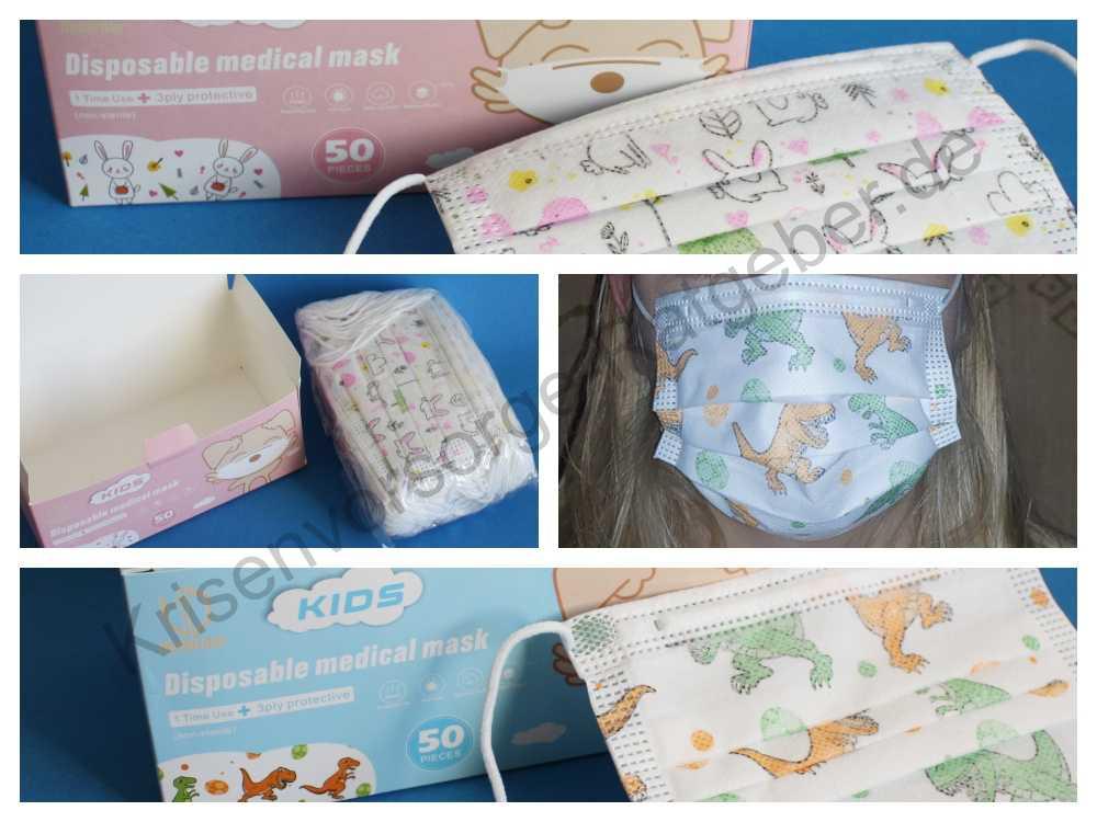 OP Mundschutz Masken fuer Kinder mit optimaler Passform für Kindergesichter